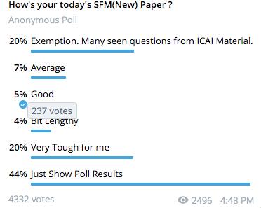 SFM Poll 2nd