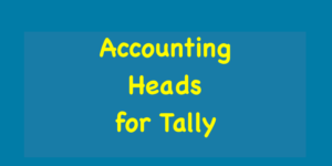 Accounting Heads for Tally