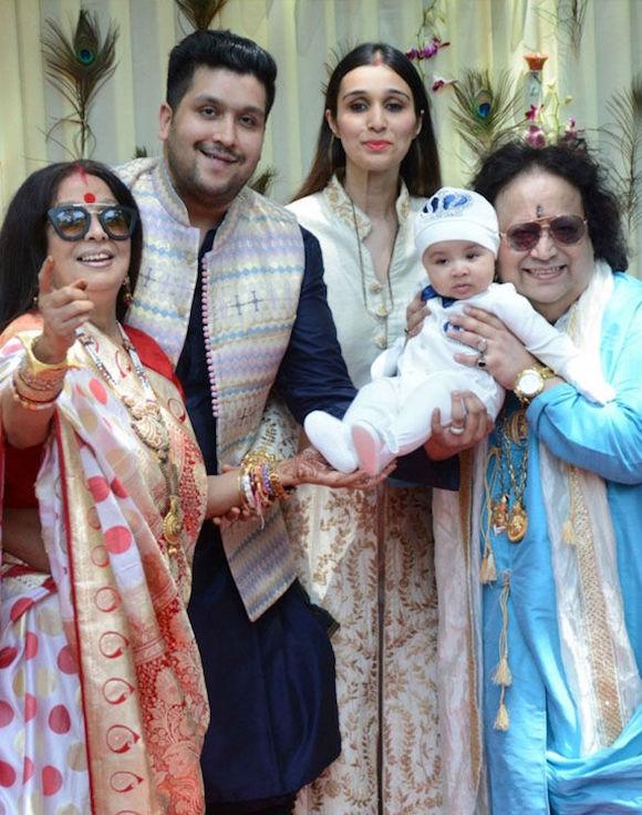 Bappi Lahiri Family