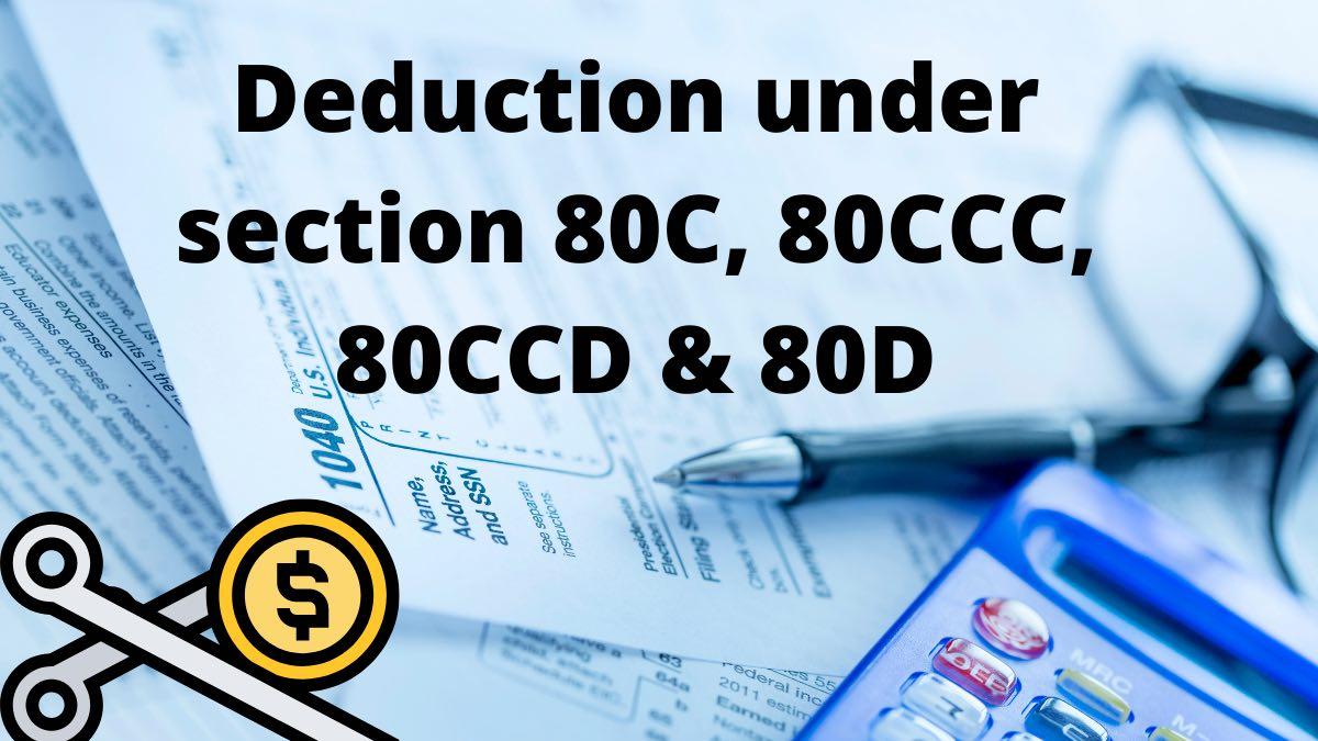 Deduction under section 80C