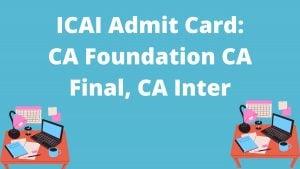 ICAI Admit Card