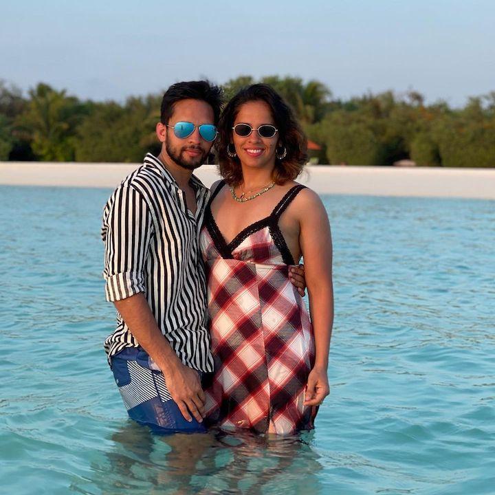 Saina Nehwal with husband