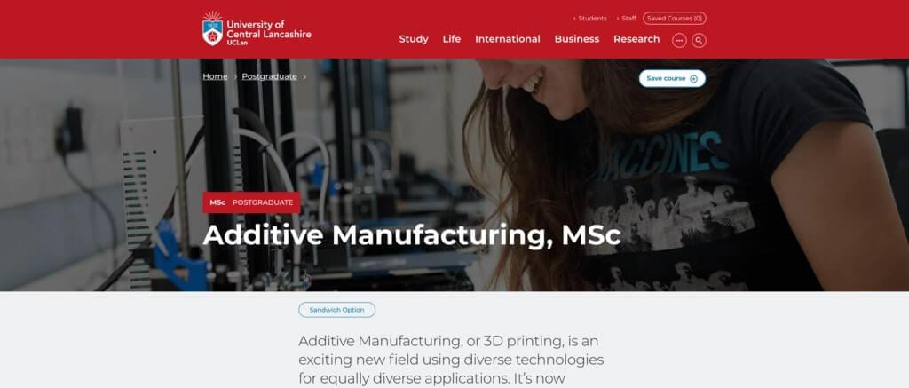 msc in additive manufacturing