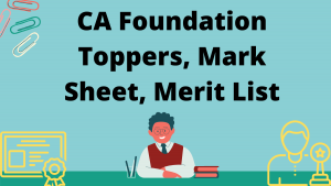 CA Foundation Toppers