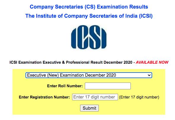 CS Executive Result Dec 2020