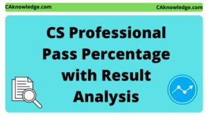 CS Professional Pass Percentage