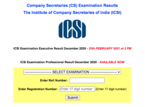 CS Professional Result Dec 2020