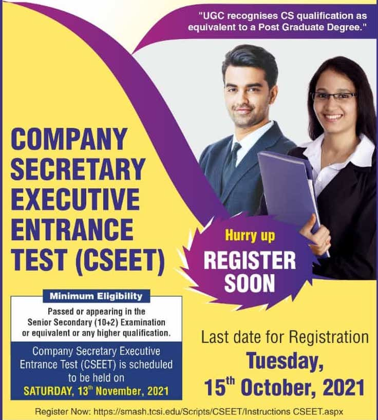 CSEET Registration Last Date