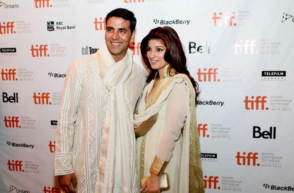 Akshay Kumar with wife
