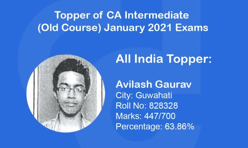CA IPCC Toppers List Jan 2021