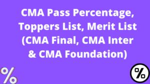 CMA Pass Percentage