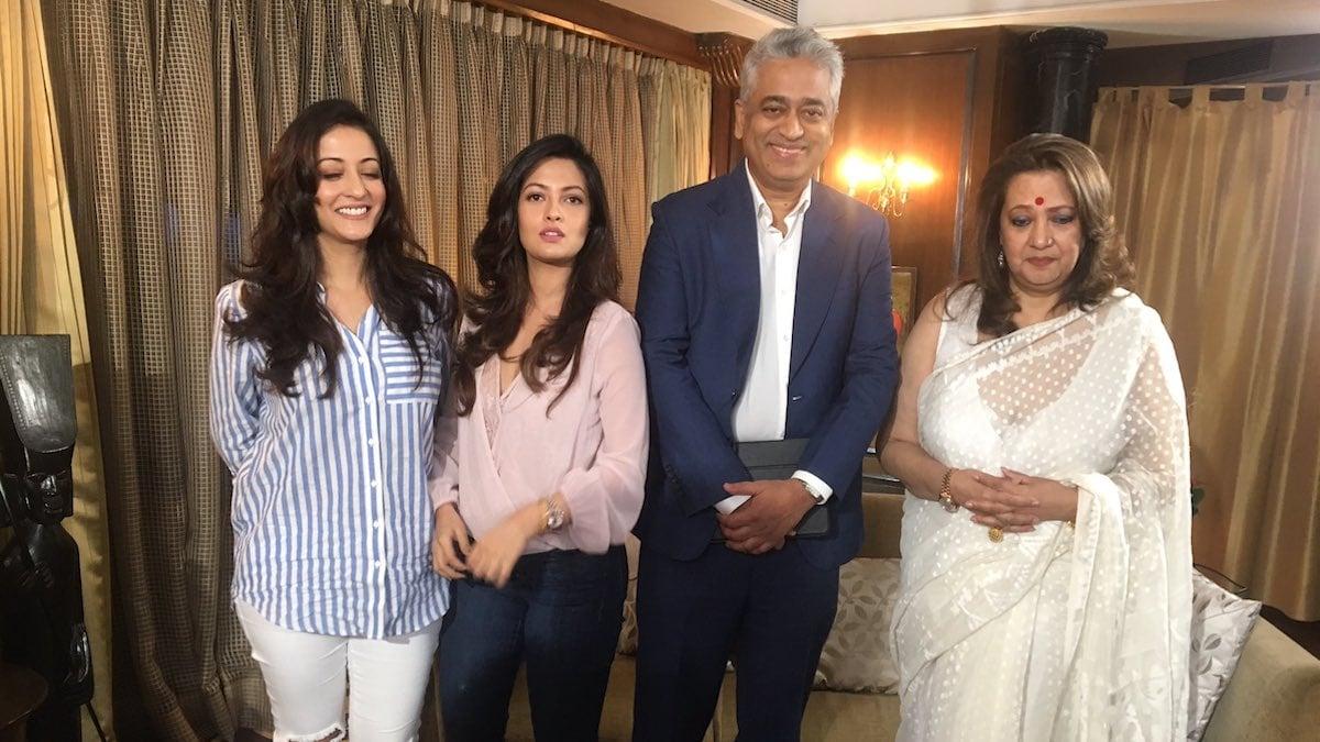 Rajdeep Sardesai Family
