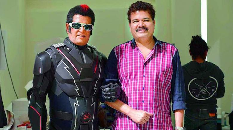 S Shankar with Rajnikanth