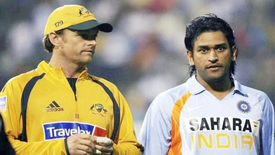 adam gilchrist with ms dhoni