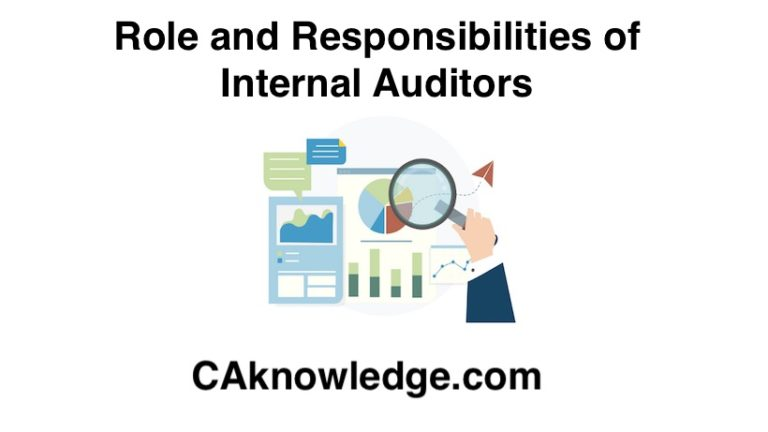 Role and Responsibilities of Internal Auditors