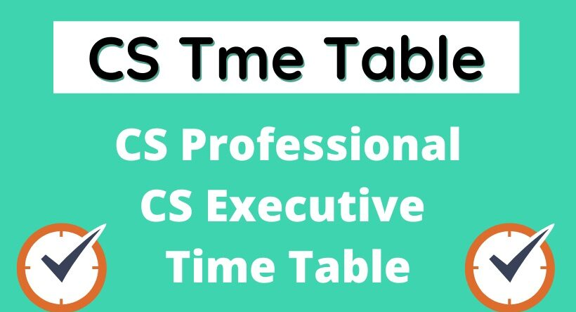 CS Time Table