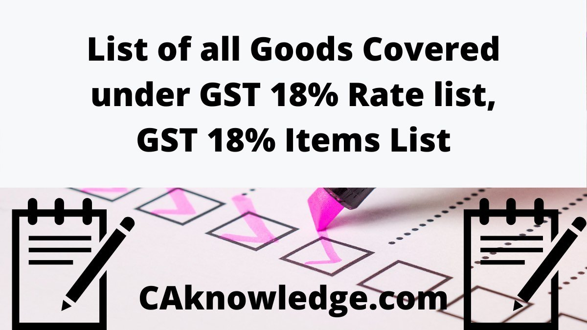 GST 18% Rate list