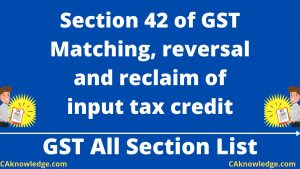 Section 42 of GST