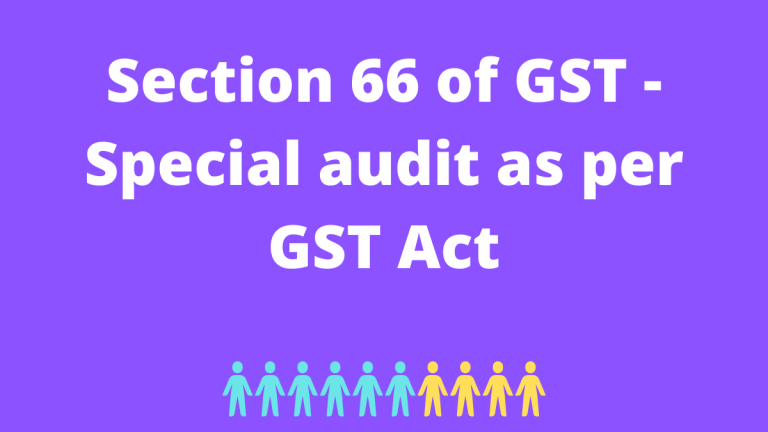 Section 66 of GST