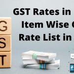 GST Rates List