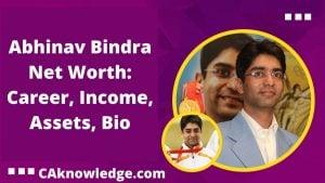 Abhinav Bindra Net Worth