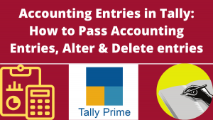 Accounting Entries in Tally