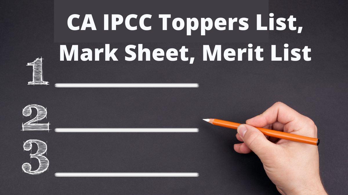 CA IPCC Toppers List