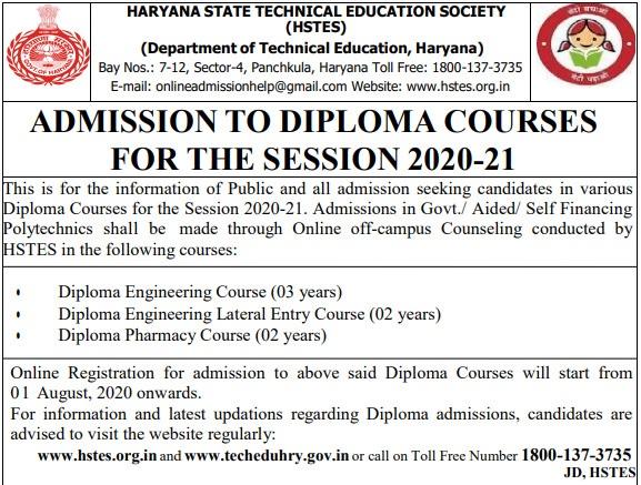 DET-2021-Haryana-Polytechnic-Application-Form