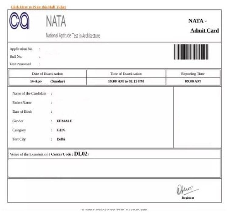 NATA-2021-ADMIT-card