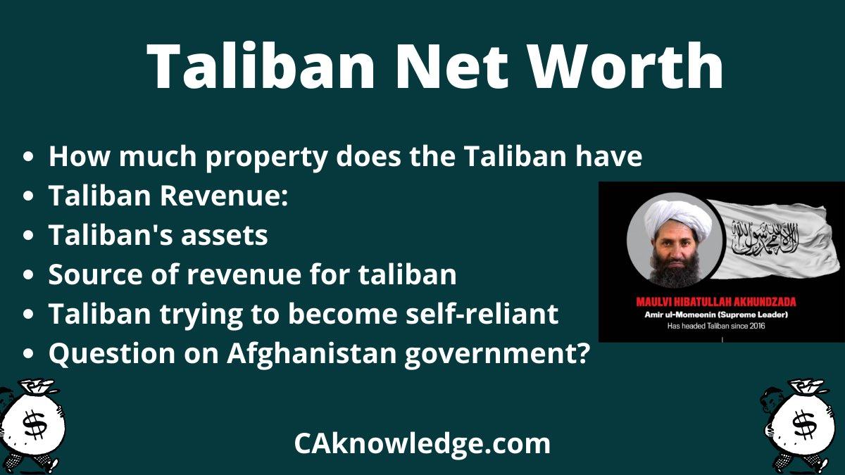 Taliban Net Worth