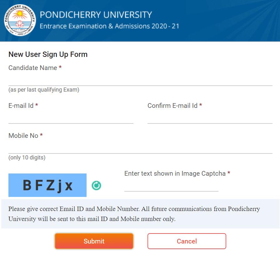 Pondicherry-University-Entrance-exam-2021