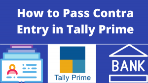 Contra Entry in Tally Prime