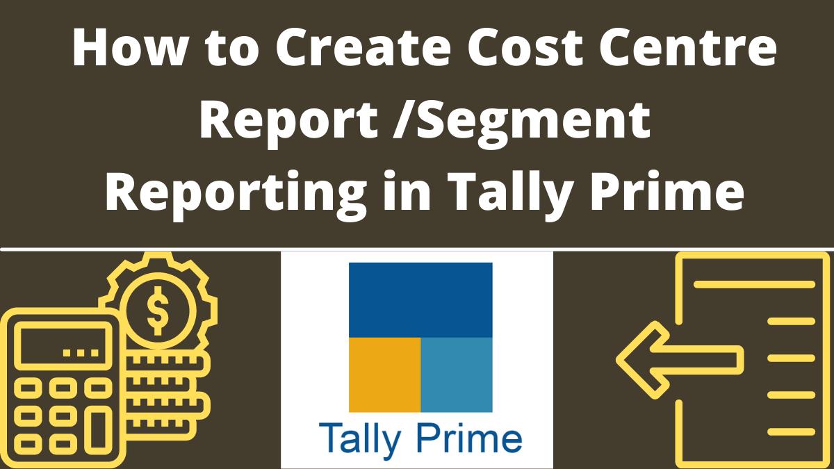 Create Cost Centre Report