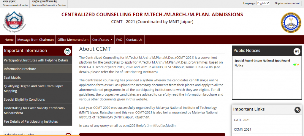 GATE-CCMT-Counselling