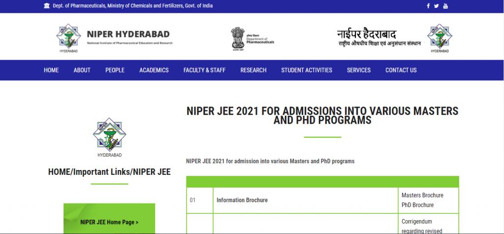 NIPER-JEE-2021